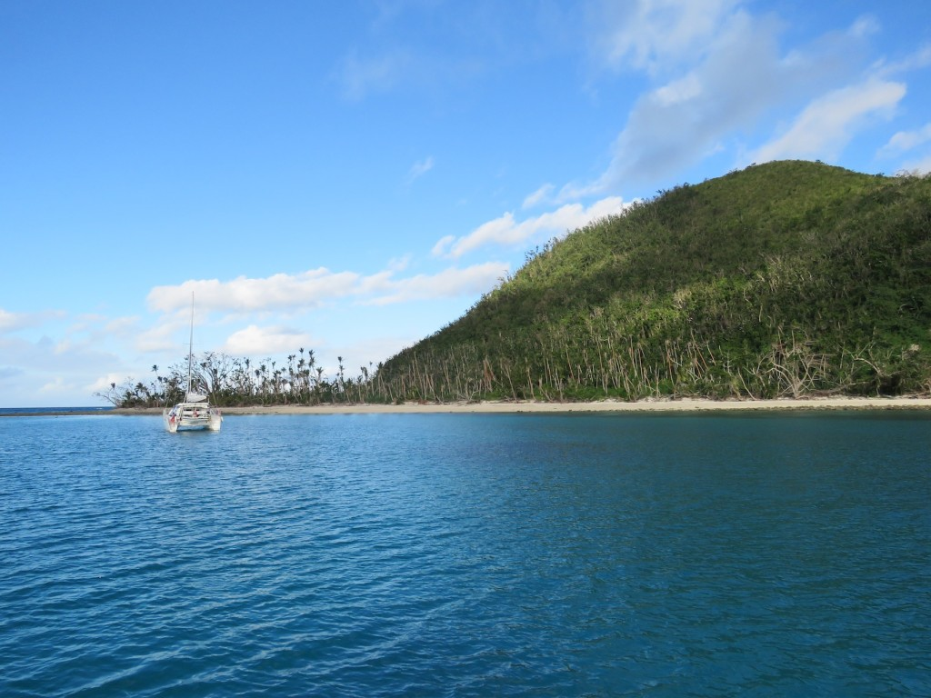 The anchorage at Naigani Island