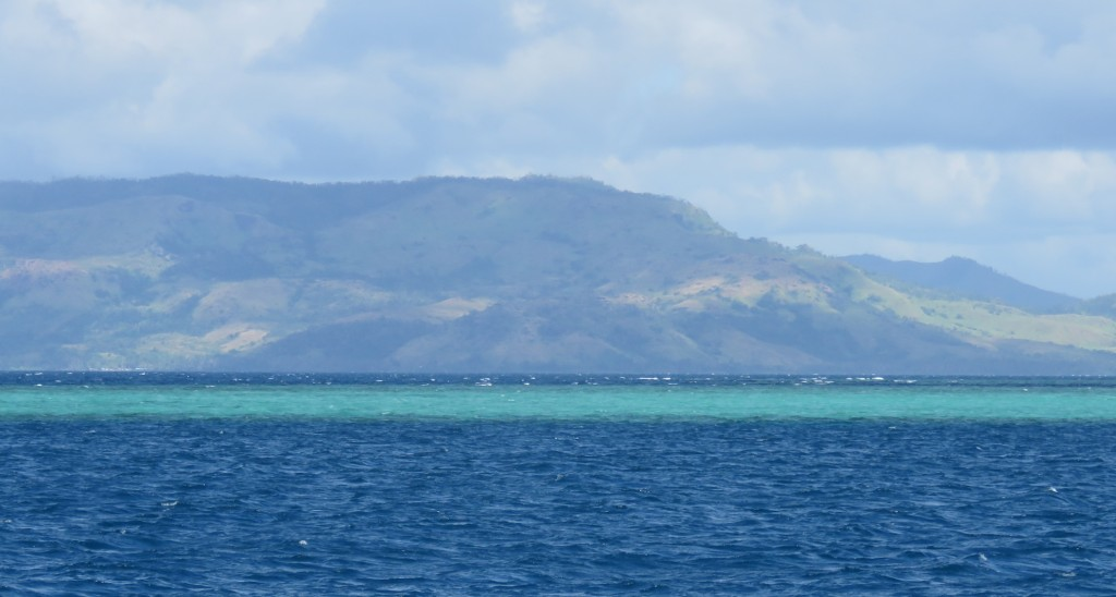 The reefs along the north coast