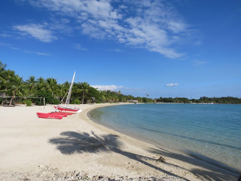 The beachfront, Musket Cove