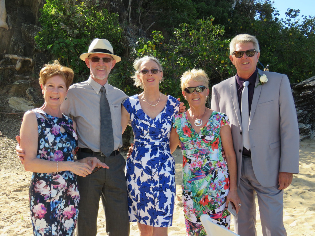 The family (or part thereof) Maureen, Michael, sister-in-law Margaret, Shirley and the smart bloke on the end who resembles the Captain.