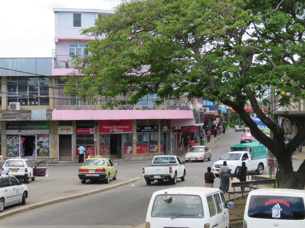 The hustle and bustle of downtown Nadi