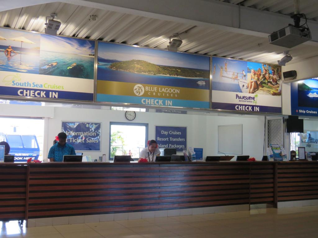 The booking terminal at Denarau
