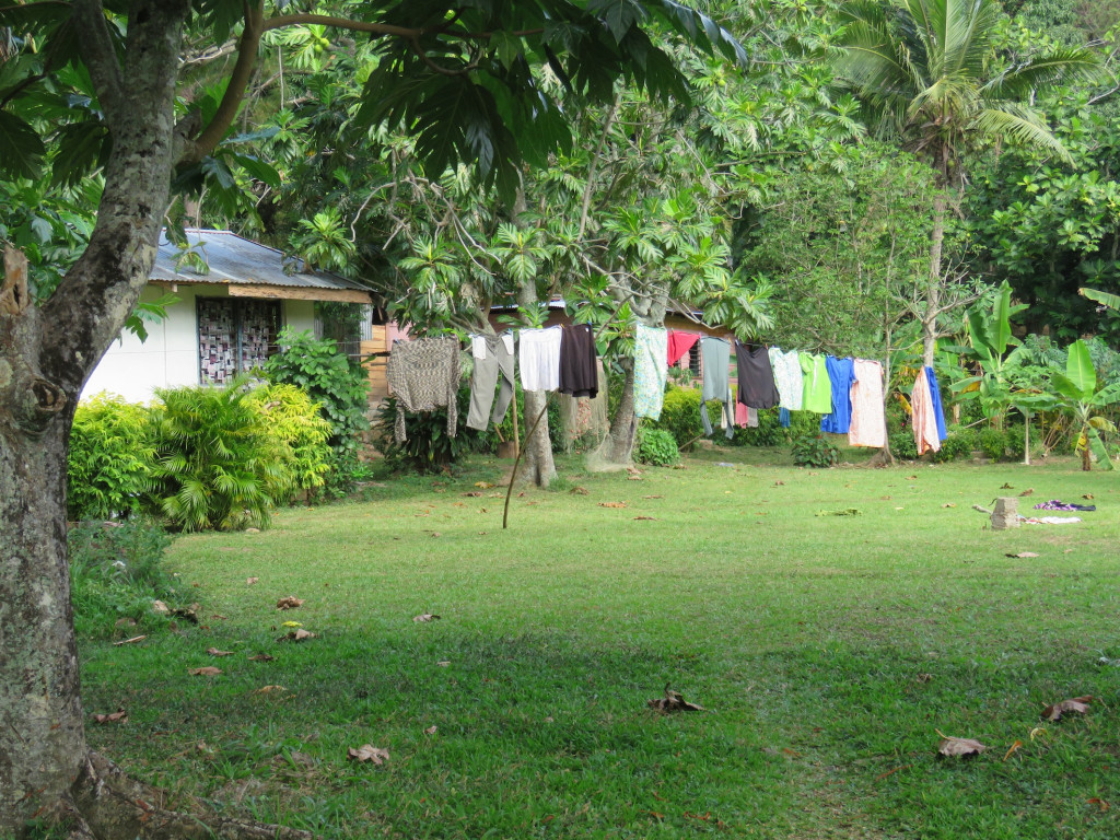 Whatever the village, whatever the day, there's always washing on the line