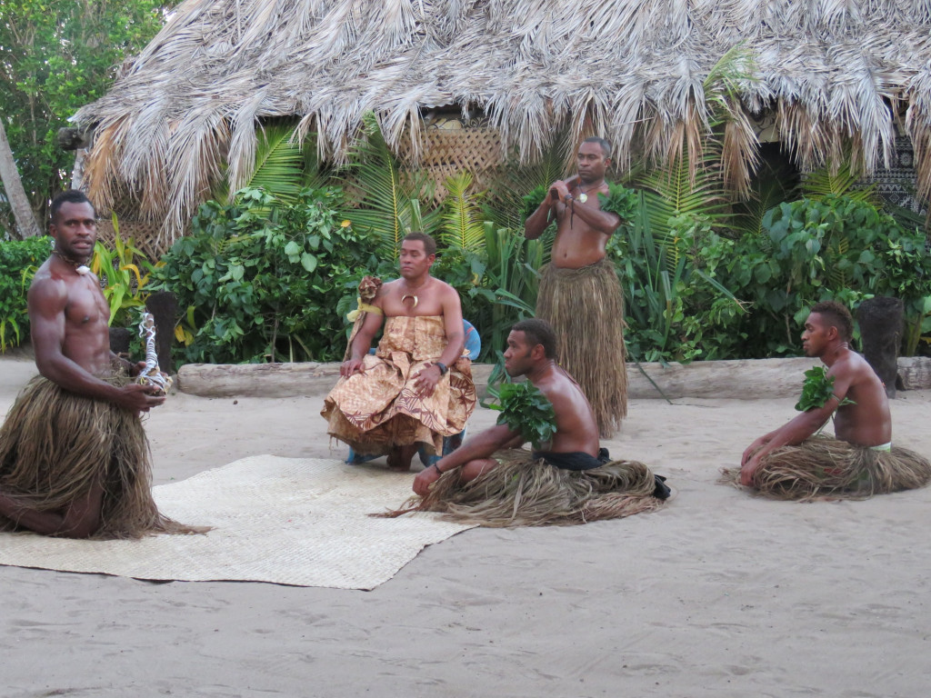 Enactment of a traditional kava ceremony