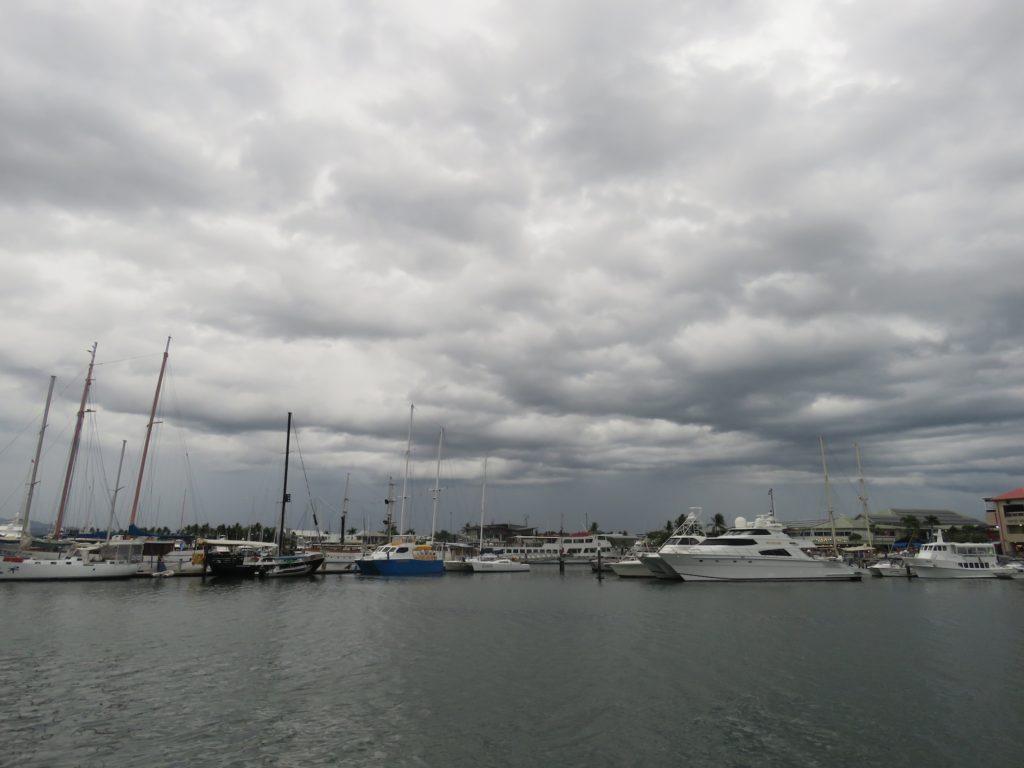 Uh Oh - ominous looking skies as Maureen arrives