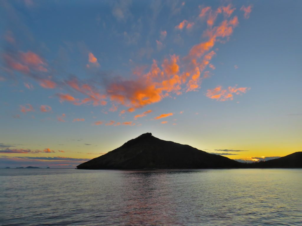 Sunset over Waya Island
