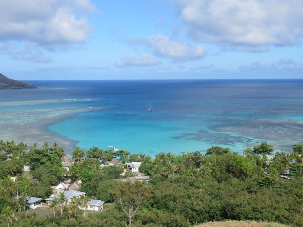 The view from the lookout at Nacula Island - there's Toucan!