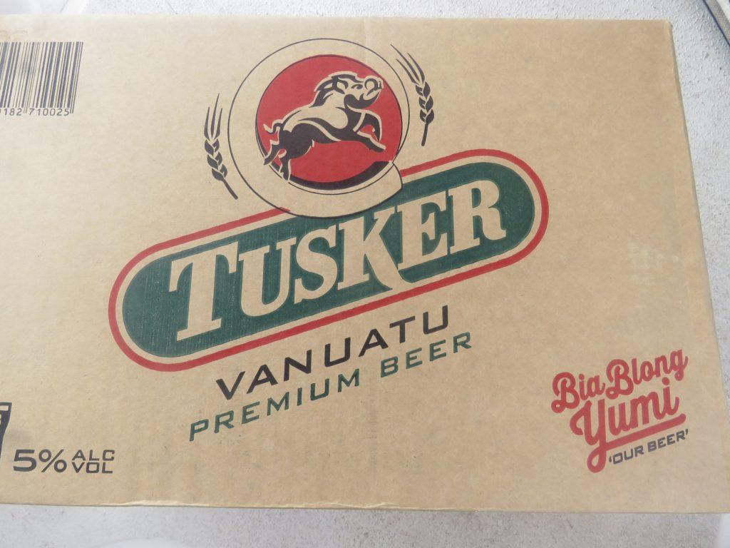 When in Vanuatu...Tusker beer is the only beer to drink (complete with wonderful Bislama advertising)