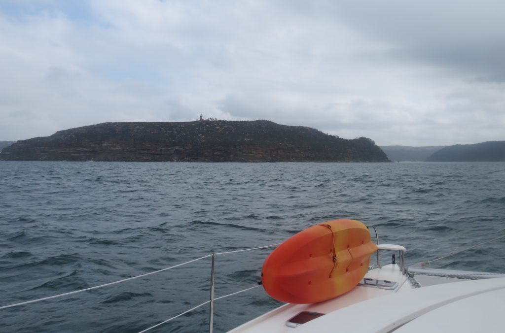 Barrenjoey Headland and approach to Pittwater